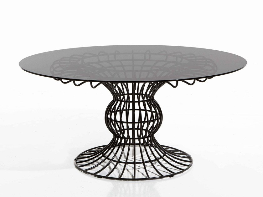 Round iron garden table SIRIO | Round garden table by Samuele Mazza by DFN
