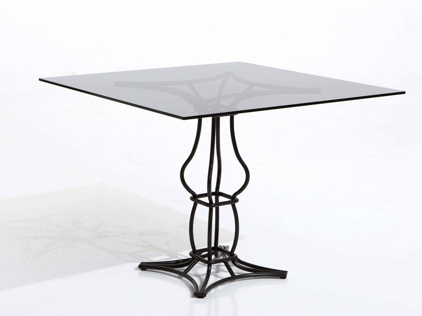 Square iron garden table SIRIO | Square garden table by Samuele Mazza by DFN