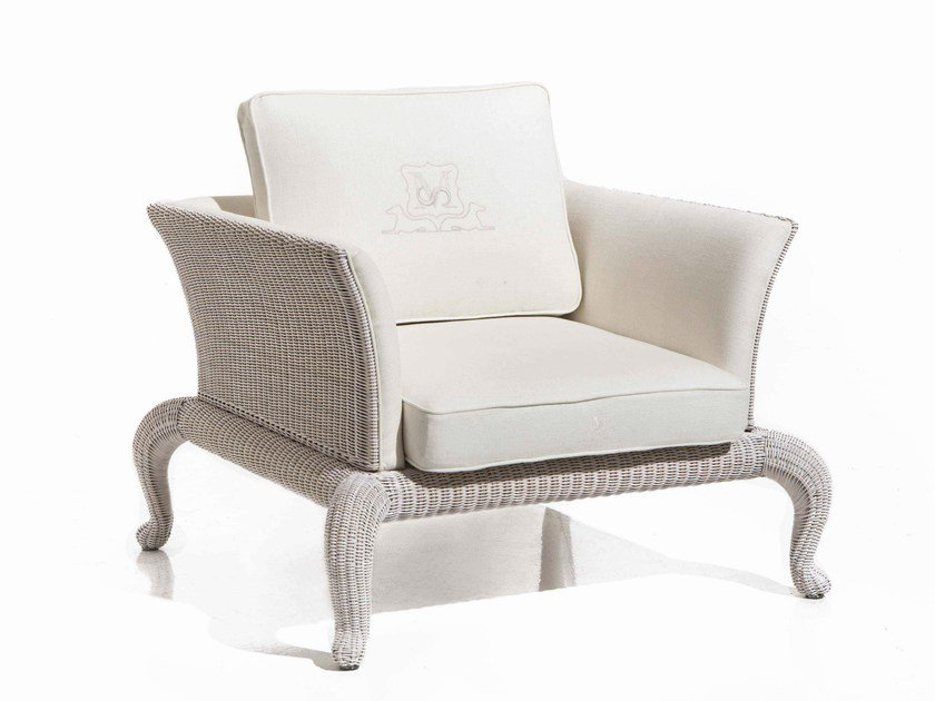 Upholstered fabric armchair ANTARES | Armchair by Samuele Mazza by DFN