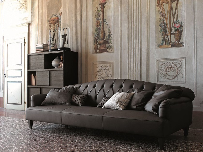 Tufted 3 seater leather sofa WILLIAM   Sofa by CIACCI