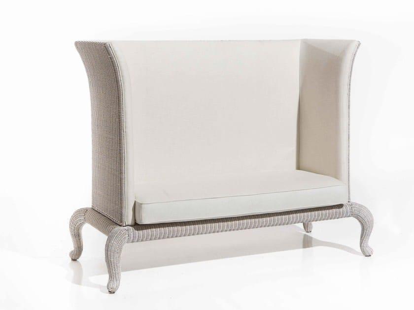 High-back fabric sofa ANTARES | 2 seater sofa by Samuele Mazza by DFN
