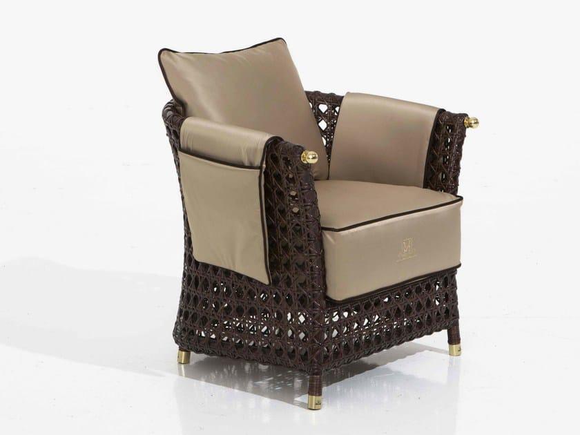 Upholstered fabric garden armchair RIGEL | Garden armchair by Samuele Mazza by DFN
