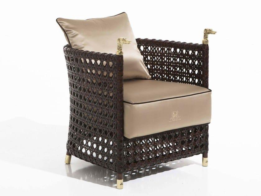 Upholstered fabric garden armchair SHAULA | Garden armchair by Samuele Mazza by DFN