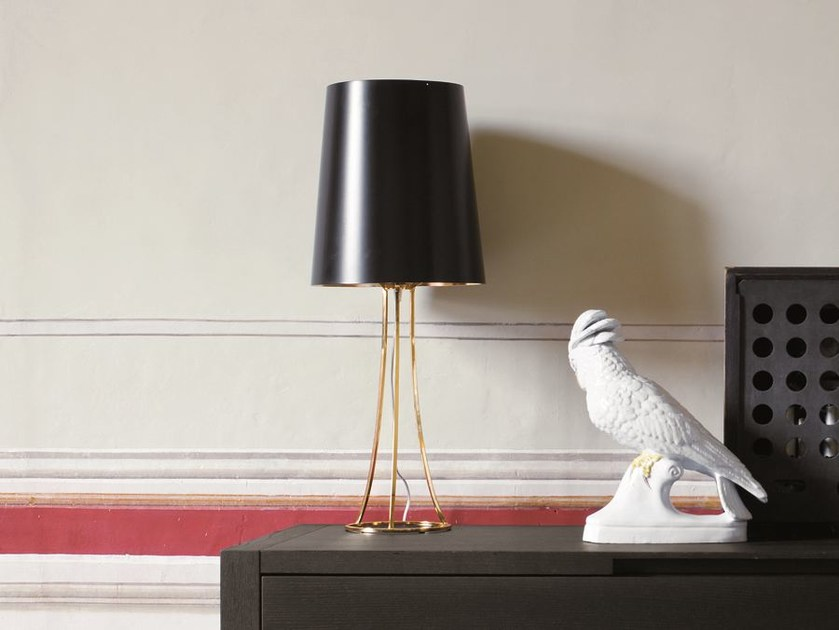 Direct-indirect light table lamp SKIN | Table lamp by CIACCI