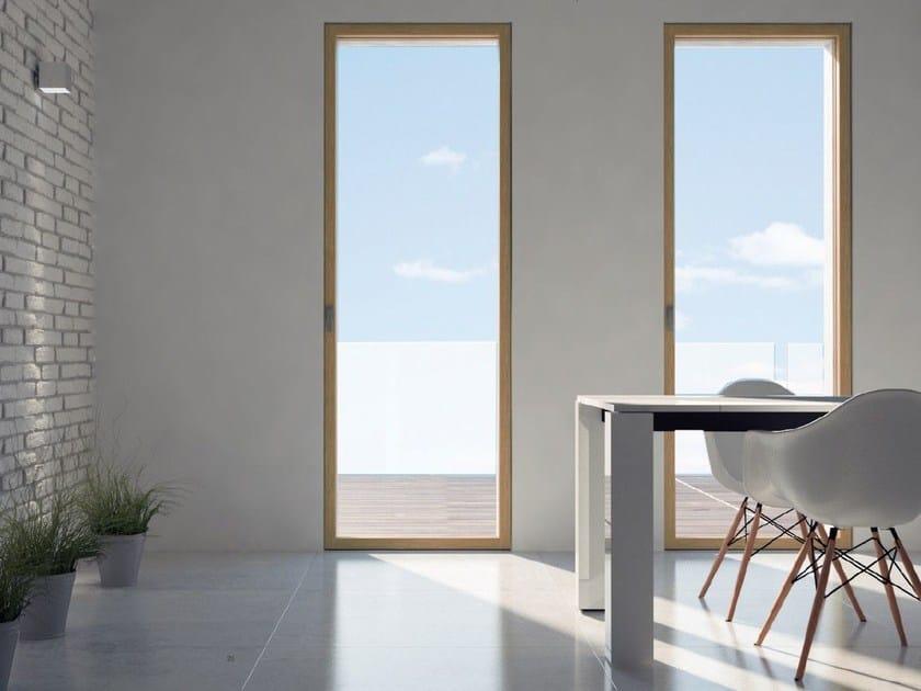 Wooden patio door SKYLINE DOOR | Patio door by CARMINATI SERRAMENTI