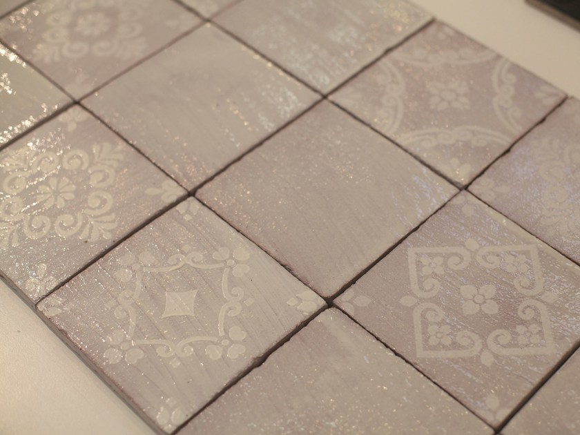 Indoor quarry wall tiles WHITE WASH by AREZIA