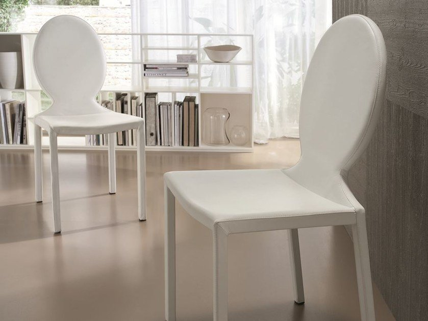 Upholstered leather chair PARIS by CIACCI