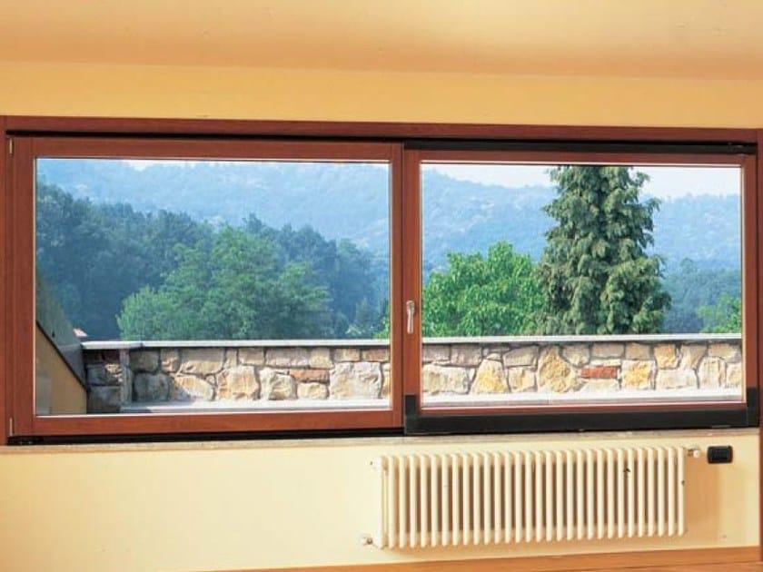 Finestra complanare in alluminio e legno passive 120 for Finestra esterna scorrevole