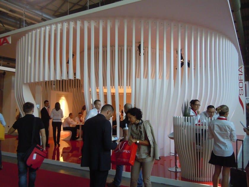 Allestimenti stand in EPS Produzione elementi stand Sofia su disegno dell'arch. R. Giovanetti