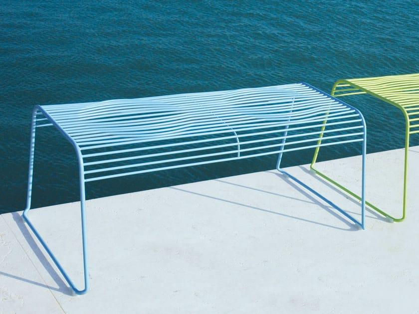 Powder coated steel garden bench GRID | Garden bench by CIACCI