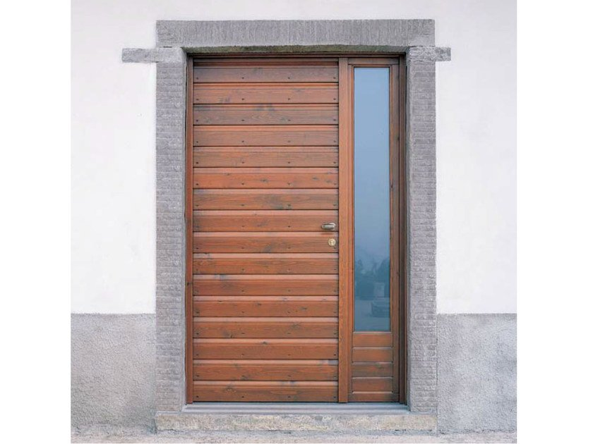 Exterior glazed wooden entry door Glazed entry door by CARMINATI SERRAMENTI
