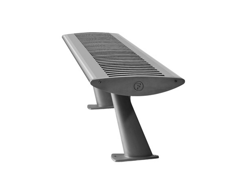 Stainless steel Bench FOIL STEEL by Factory Furniture
