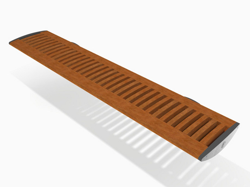 Wall-Mounted aluminium and wood Bench FOIL WOOD | Wall-Mounted Bench by Factory Furniture