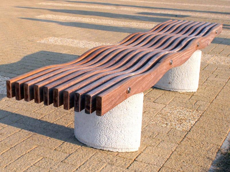 Wooden Bench SERPENTINE ELIPSE   Bench by Factory Furniture
