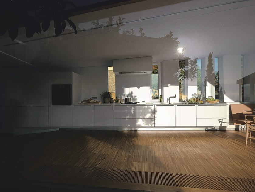 Cucina in rovere bianco B3 | Cucina lineare - Bulthaup