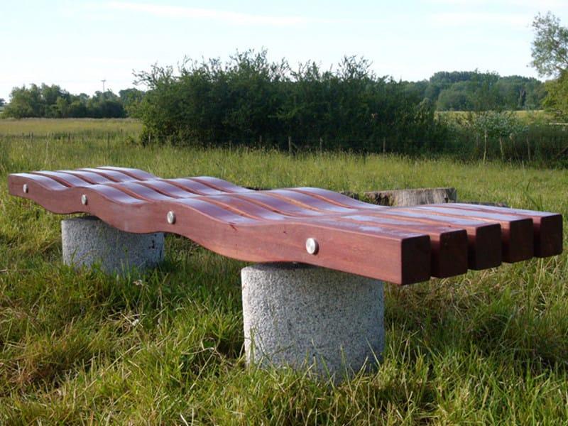 Wooden Bench SERPENTINE 5 SLAT ELIPSE by Factory Furniture