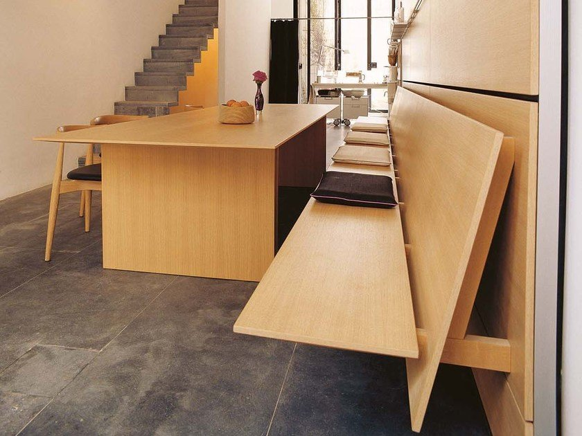 Modular wood veneer bench C3 | Bench by Bulthaup
