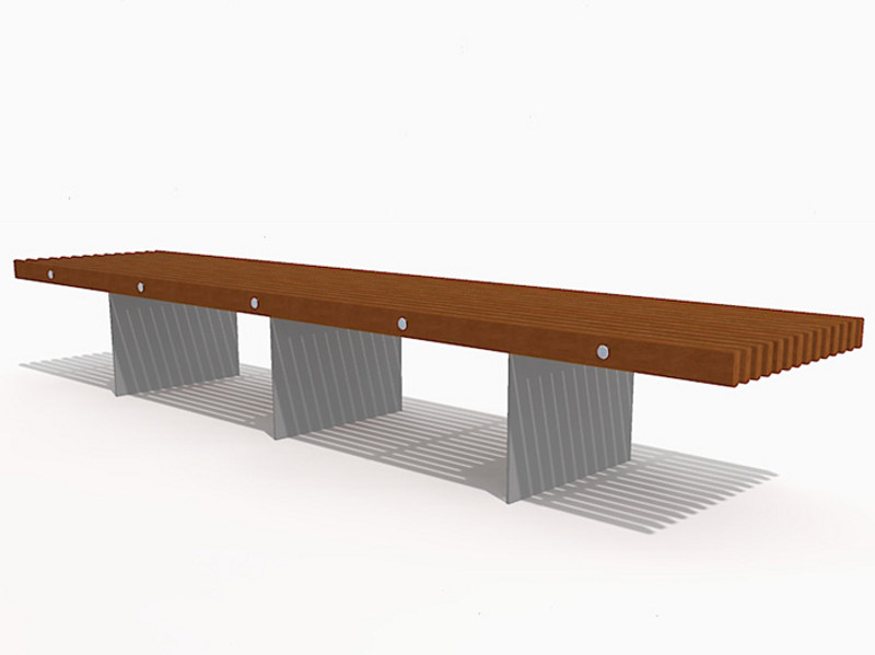 Backless Bench SOCA STEEL by Factory Furniture