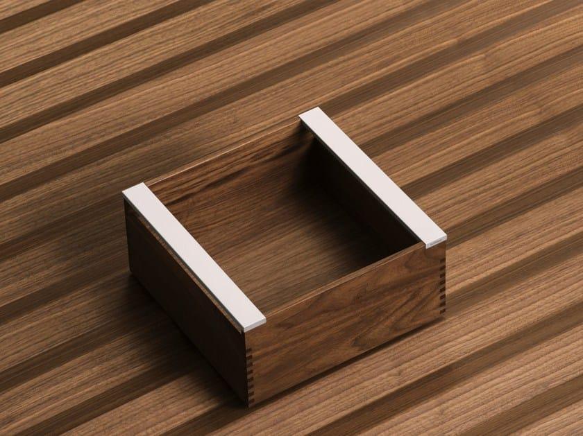 Walnut drawers divider / food-storage box B3 INTERIOR SYSTEM   Walnut food-storage box by Bulthaup