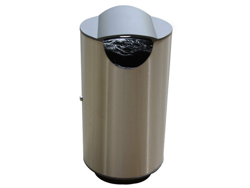 Stainless steel litter bin ROUND SMALL by Factory Furniture