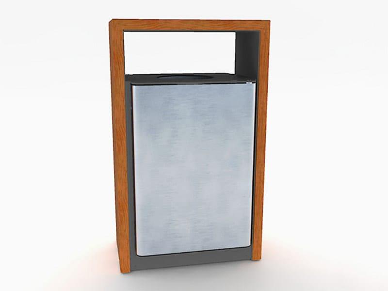 Steel and wood litter bin BLOC WOOD | Litter bin by Factory Furniture