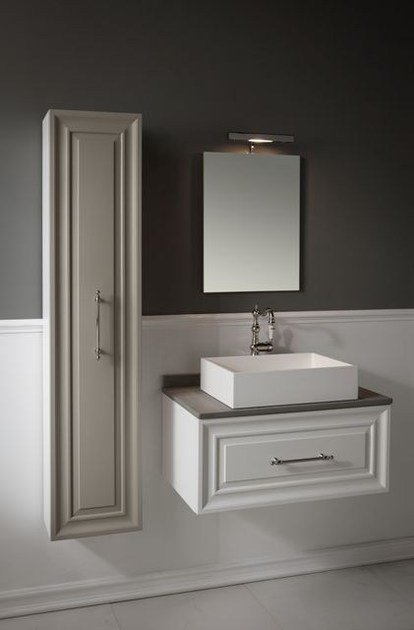 Wall-mounted vanity unit with mirror CHARME 1 by BLEU PROVENCE