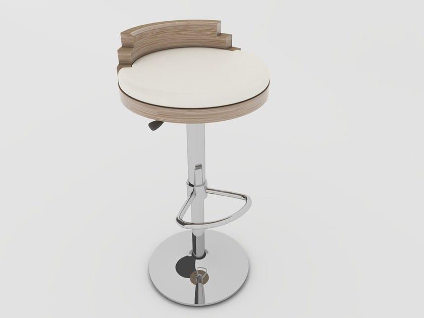 Sgabello alto con poggiapiedi UP | Sgabello by Zuri Design