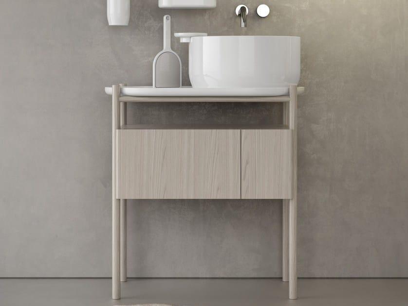 Mobile lavabo da terra in legno UKIYO-E | Mobile lavabo by Olympia Ceramica