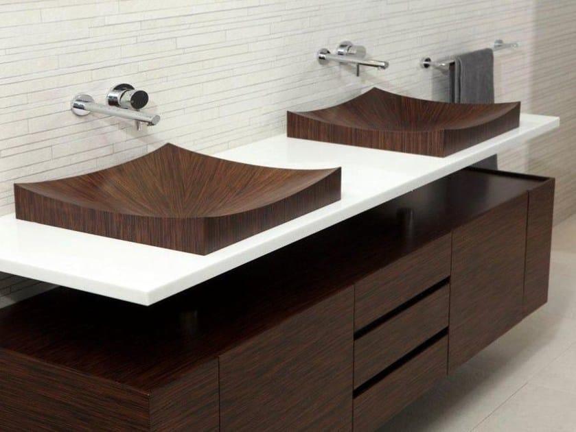 Wooden vanity unit Laguna Pure by aLEGNA