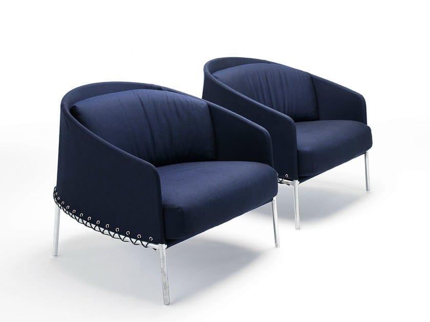 Fabric garden armchair PONCHO by Living Divani