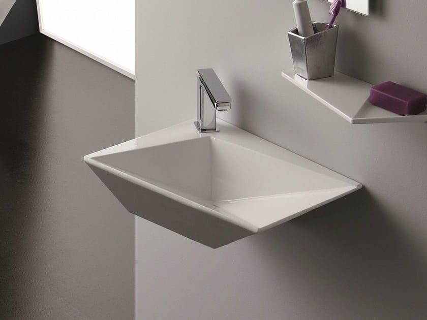 Wall-mounted washbasin CRYSTAL | Wall-mounted washbasin by Olympia Ceramica