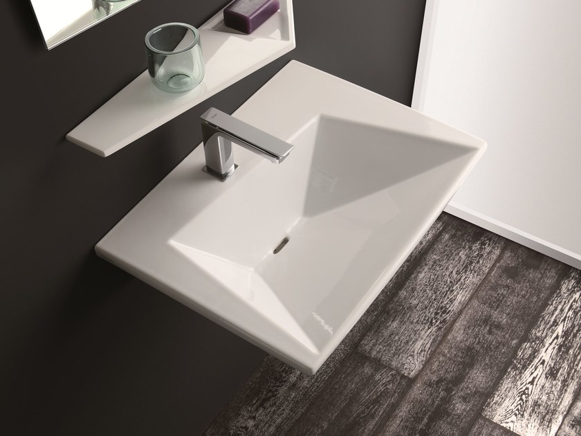 Wall-mounted washbasin CRYSTAL   Wall-mounted washbasin by Olympia Ceramica