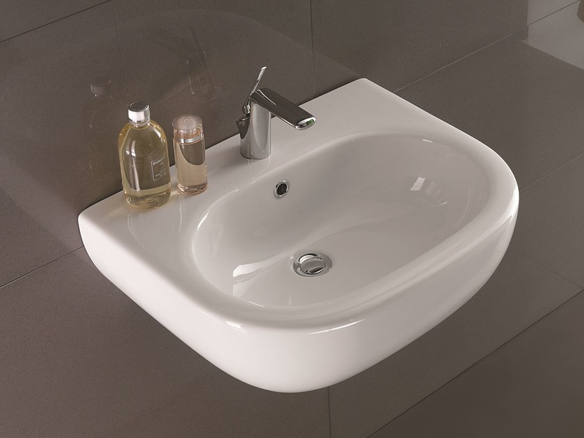 Washbasin NICOLE | Wall-mounted washbasin by Olympia Ceramica