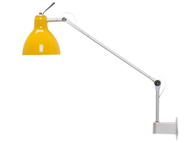 Adjustable stained glass wall lamp LUXY W1 by Rotaliana