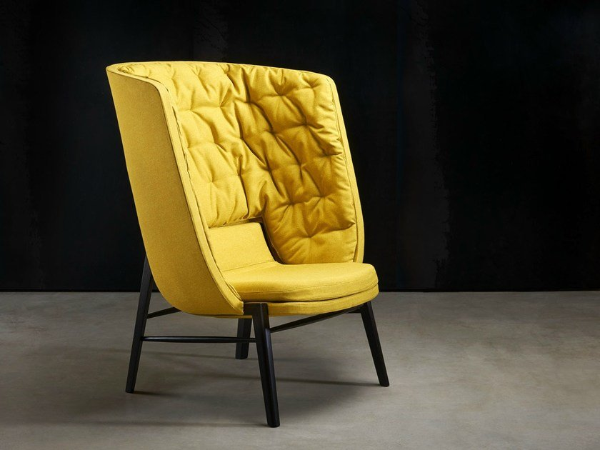 Upholstered high-back armchair CLEO   High-back armchair by ROSSIN