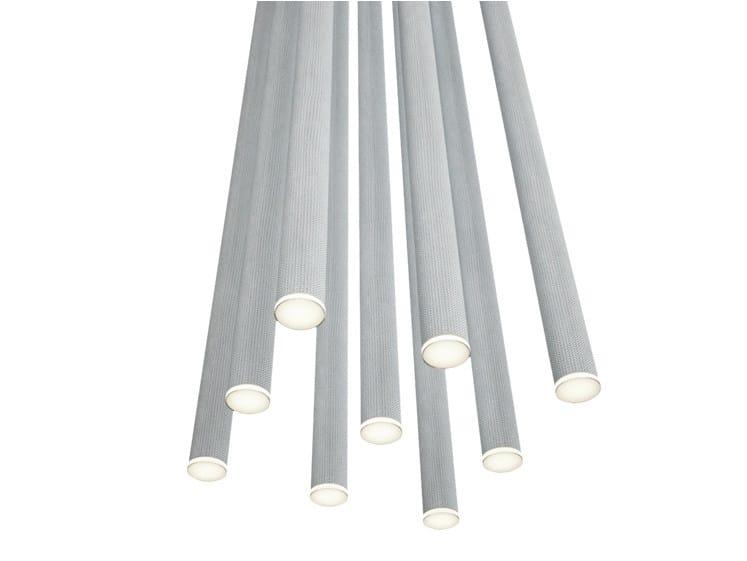 LED aluminium ceiling lamp FURIN R4 by Rotaliana