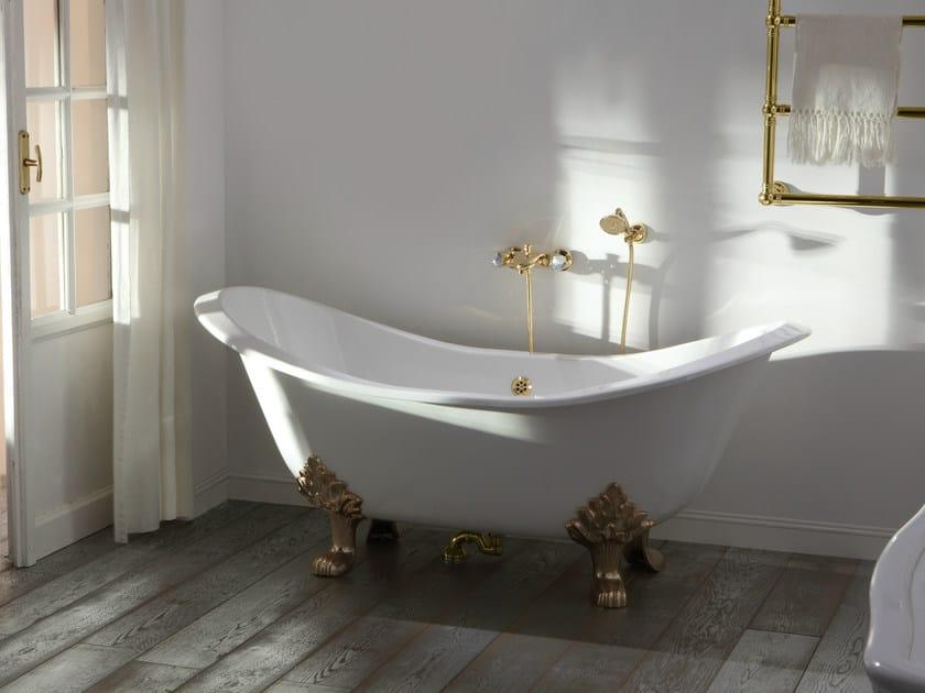 Vasca da bagno centro stanza in ghisa su piedi roma by olympia ceramica design gianluca paludi - Vasca da bagno in ghisa ...