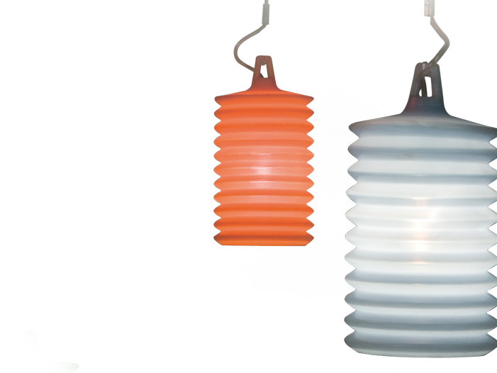 Silicone pendant lamp LAMPION H2 by Rotaliana