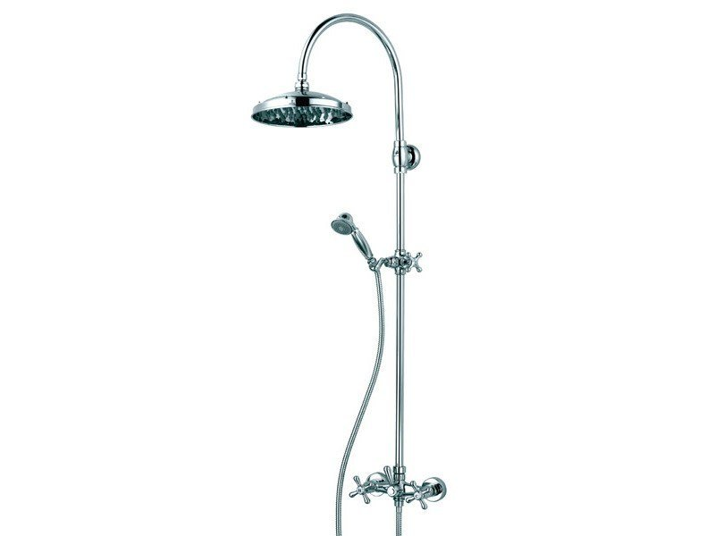 Multifunction shower panel with overhead shower RETRO' by Bossini