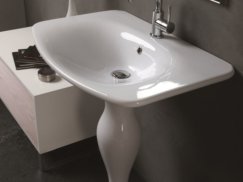 Formosa Ceramic Washbasin By Olympia Ceramica Design Marcello Ziliani