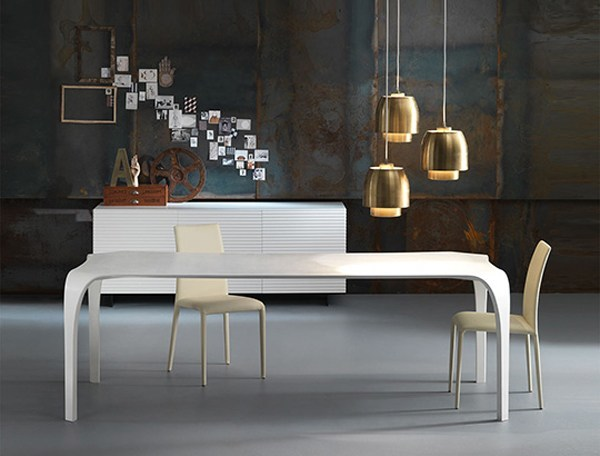 Rectangular kitchen table UNICO by RIFLESSI
