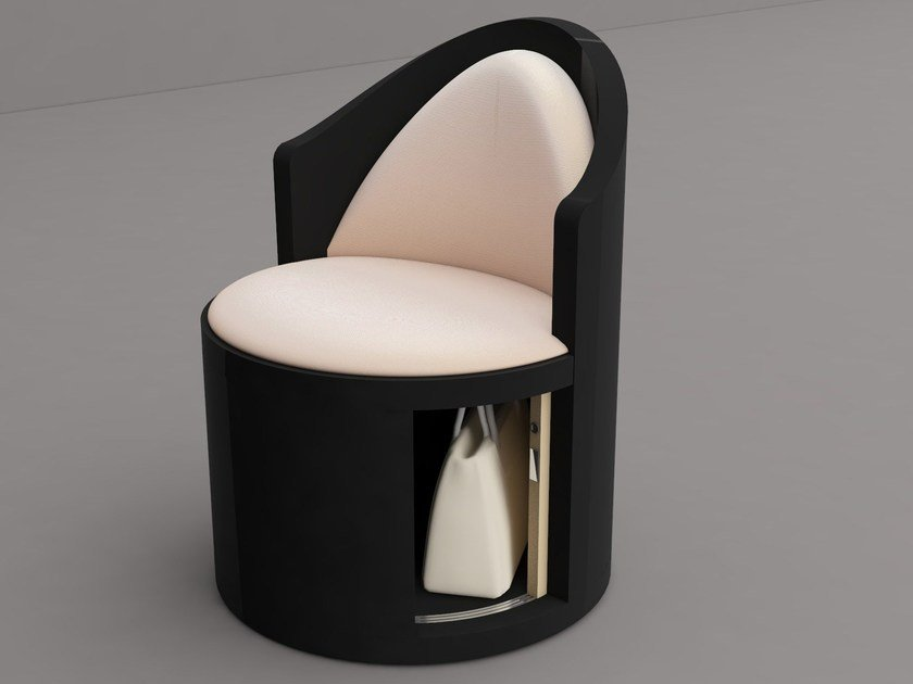 Upholstered easy chair with storage space DANIA | Easy chair with storage space by Zuri Design