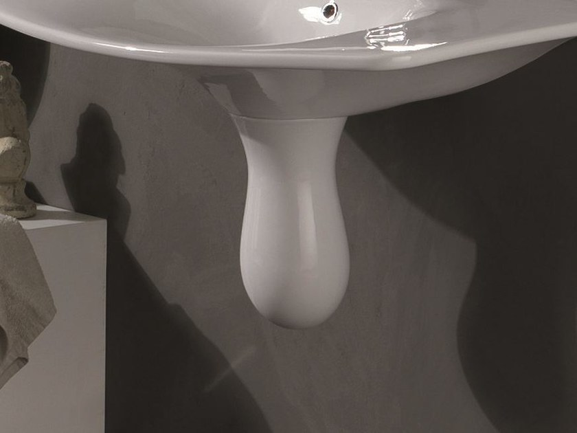 Ceramic washbasin pedestal FORMOSA | Washbasin pedestal by Olympia Ceramica