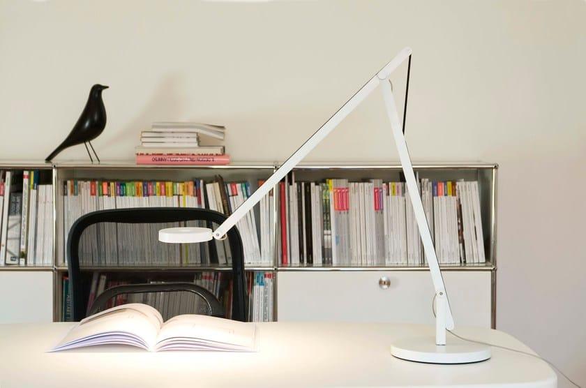 LED aluminium desk lamp STRING T1 by Rotaliana