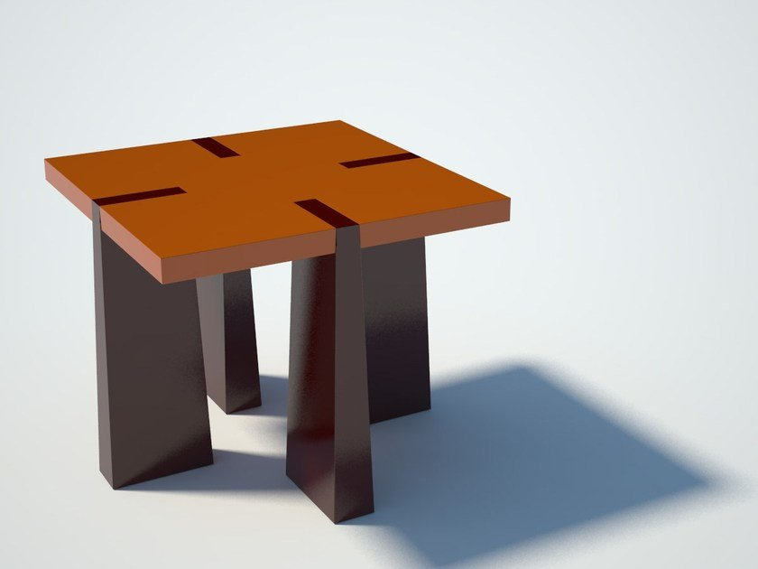 Square multi-layer wood Kids table CASTRUM | Kids table by Zuri Design