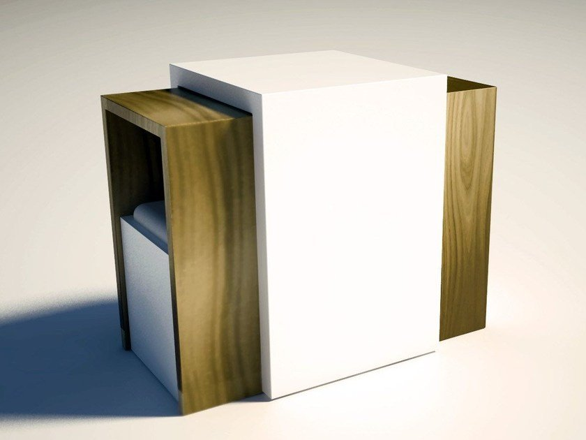 Low modular coffee table for living room MATRIOSKA | Modular coffee table by Zuri Design