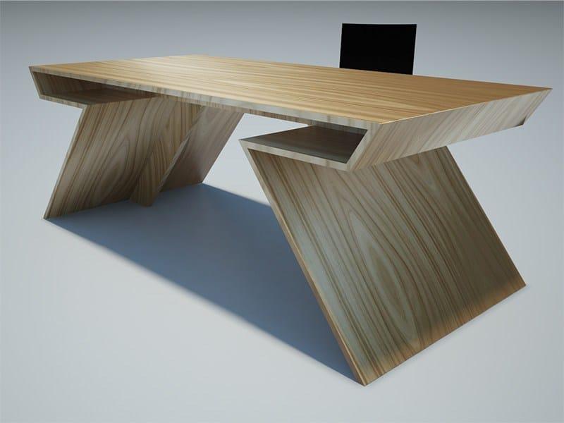 Scrivania rettangolare in legno TWIST by Zuri Design