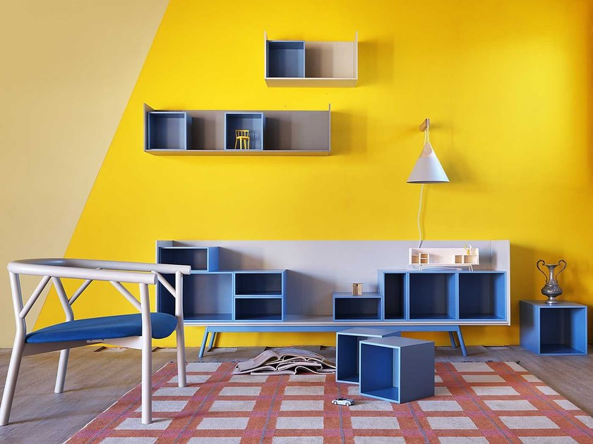 Modular wooden sideboard EDGE | Modular sideboard by Miniforms