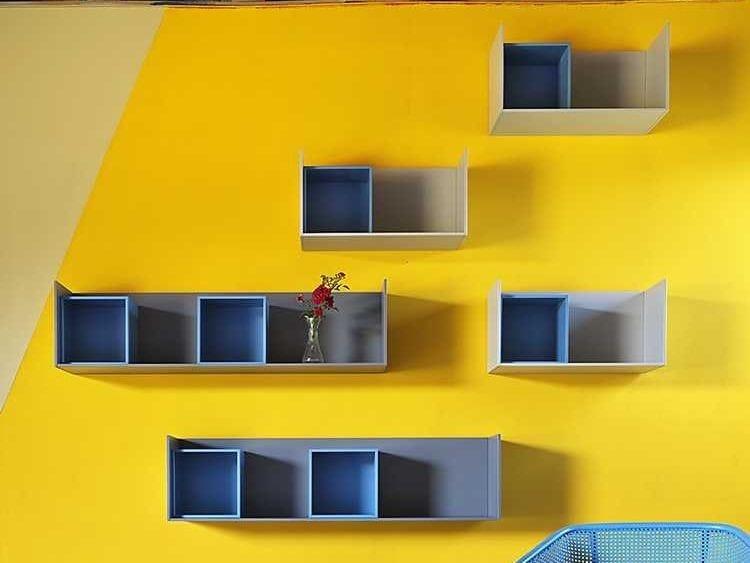 Wooden wall shelf EDGE   Wall shelf by Miniforms