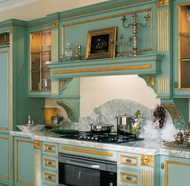 Cucina laccata foglia oro in stile veneziano FORTUNA GOLD By GD ...